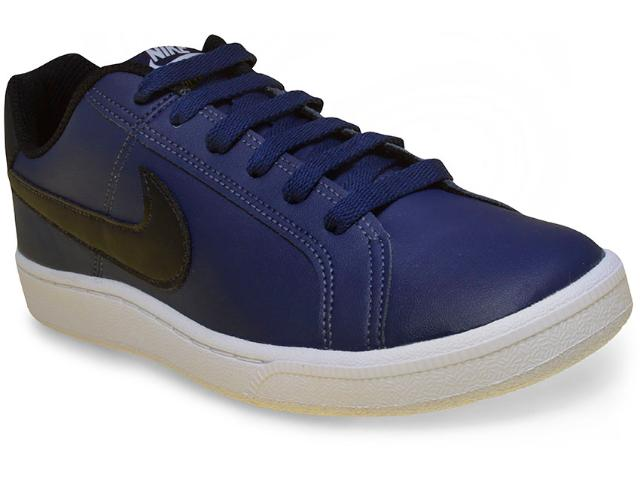 Tênis Masculino Nike 749747-400 Court Royale  Azul/preto/branco