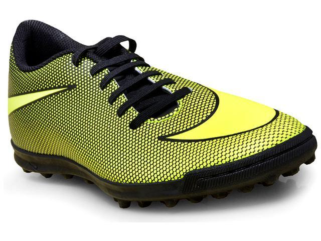 Tênis Masculino Nike 844437-070 Bravata x ii tf Football Limão/preto