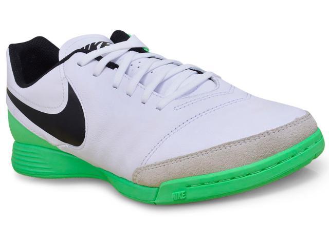 Tênis Masculino Nike 819215-103 Tiempo Genio ii Leather Branco/verde/preto