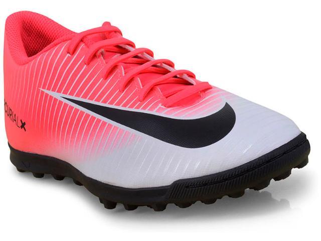 Tênis Masculino Nike 831971-601 Mercurial Vortex Iii  Rosa Neon/branco/preto