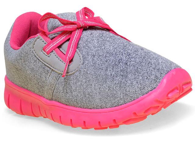 Tênis Fem Infantil Novopé 1001226 Cinza/pink