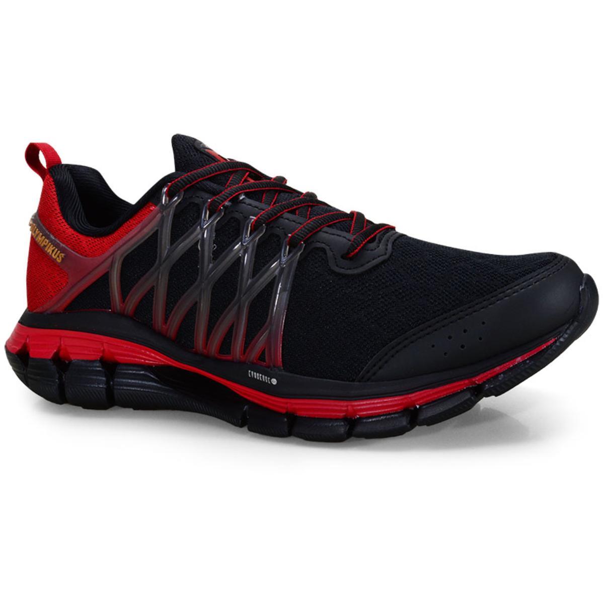 Tênis Masculino Olympikus Energia 796 Preto/vermelho