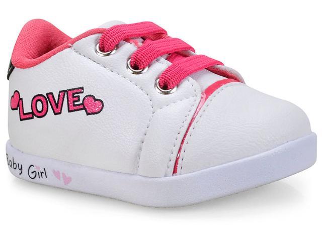 Tênis Fem Infantil Pampili 108.085 Branco/pink