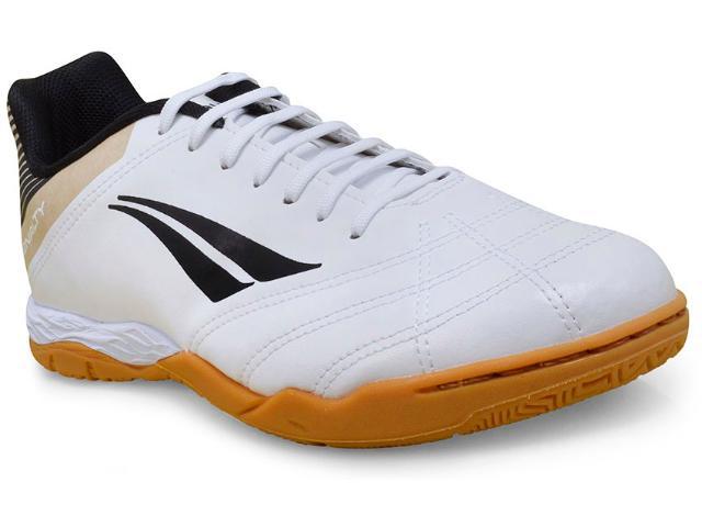 Tênis Masculino Penalty 1241091340 Futsal Brasil 70 r2 Vii  Branco/dourado/preto