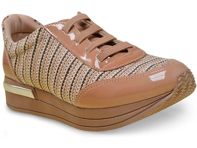 Tênis Feminino Piccadilly 973007 Bege/ouro