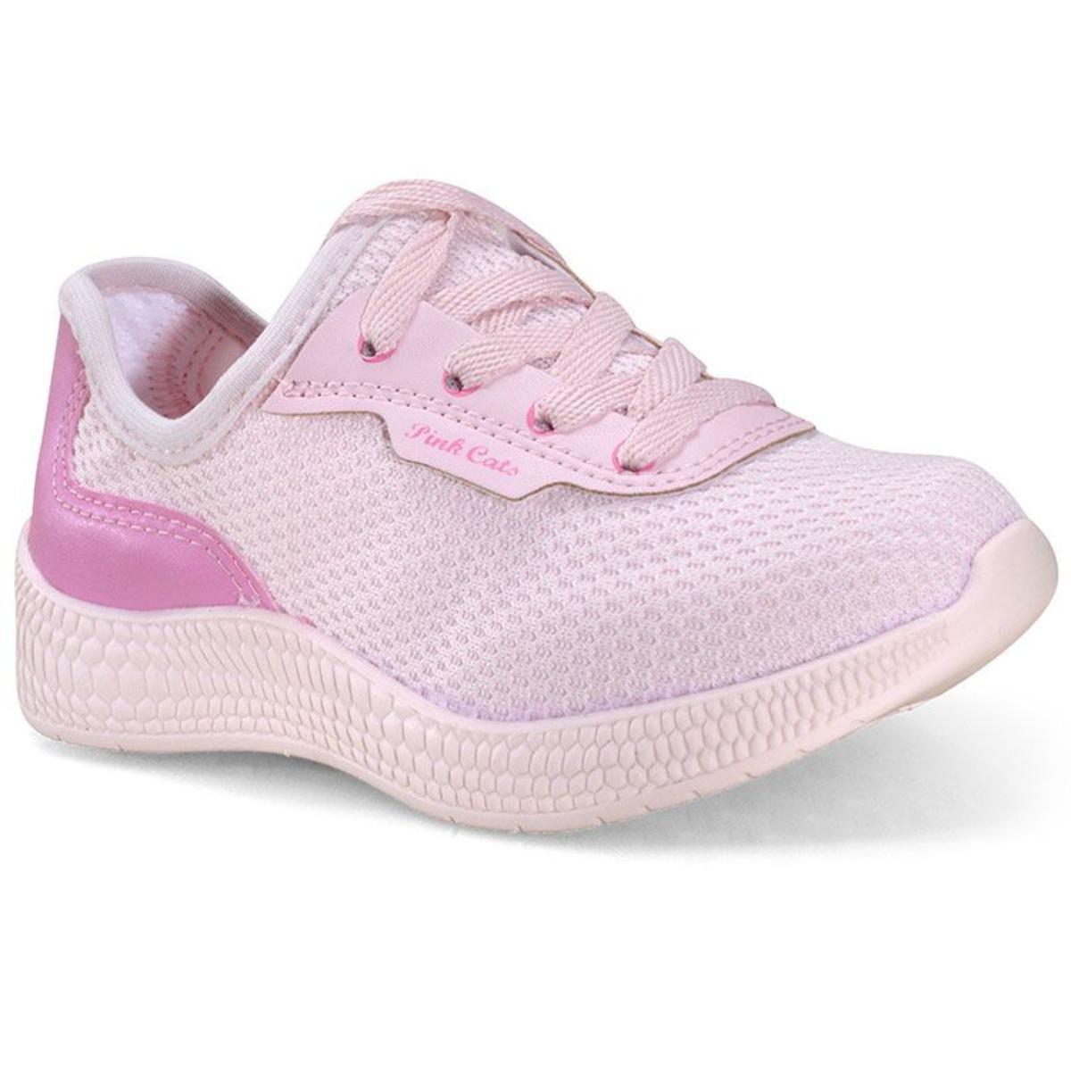 Tênis Fem Infantil Pink Cats V1951 Blush/pitaya