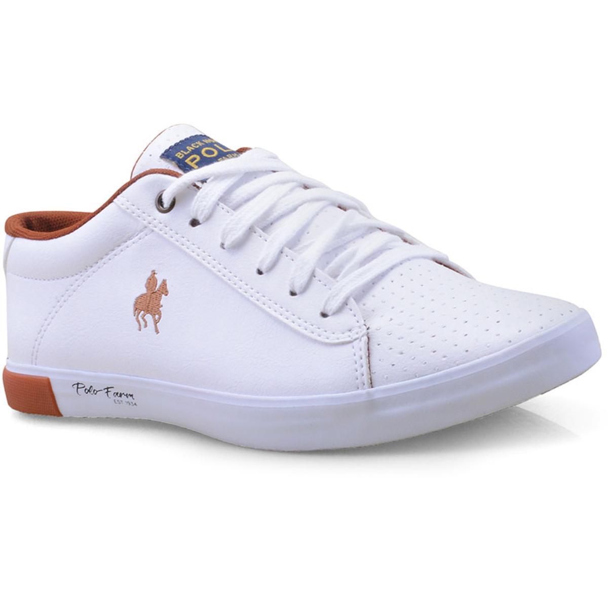 Tênis Masculino Polo Bhpf108 Branco/cobre