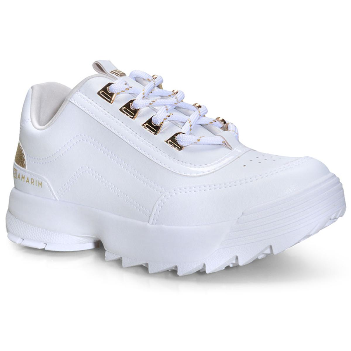 Tênis Feminino Ramarim 20-75204 Branco/ouro