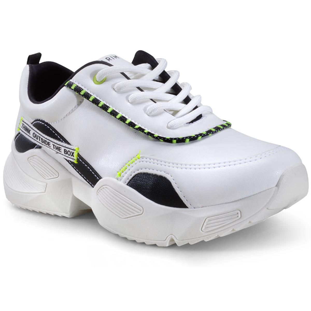 Tênis Feminino Ramarim 20-82231 Branco/preto Neon