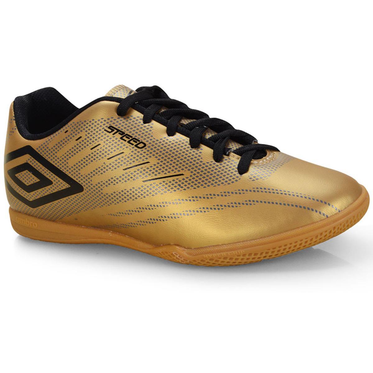 Tênis Masculino Of72112.981 Indoor Umbro Speed iv Dourado/grafite