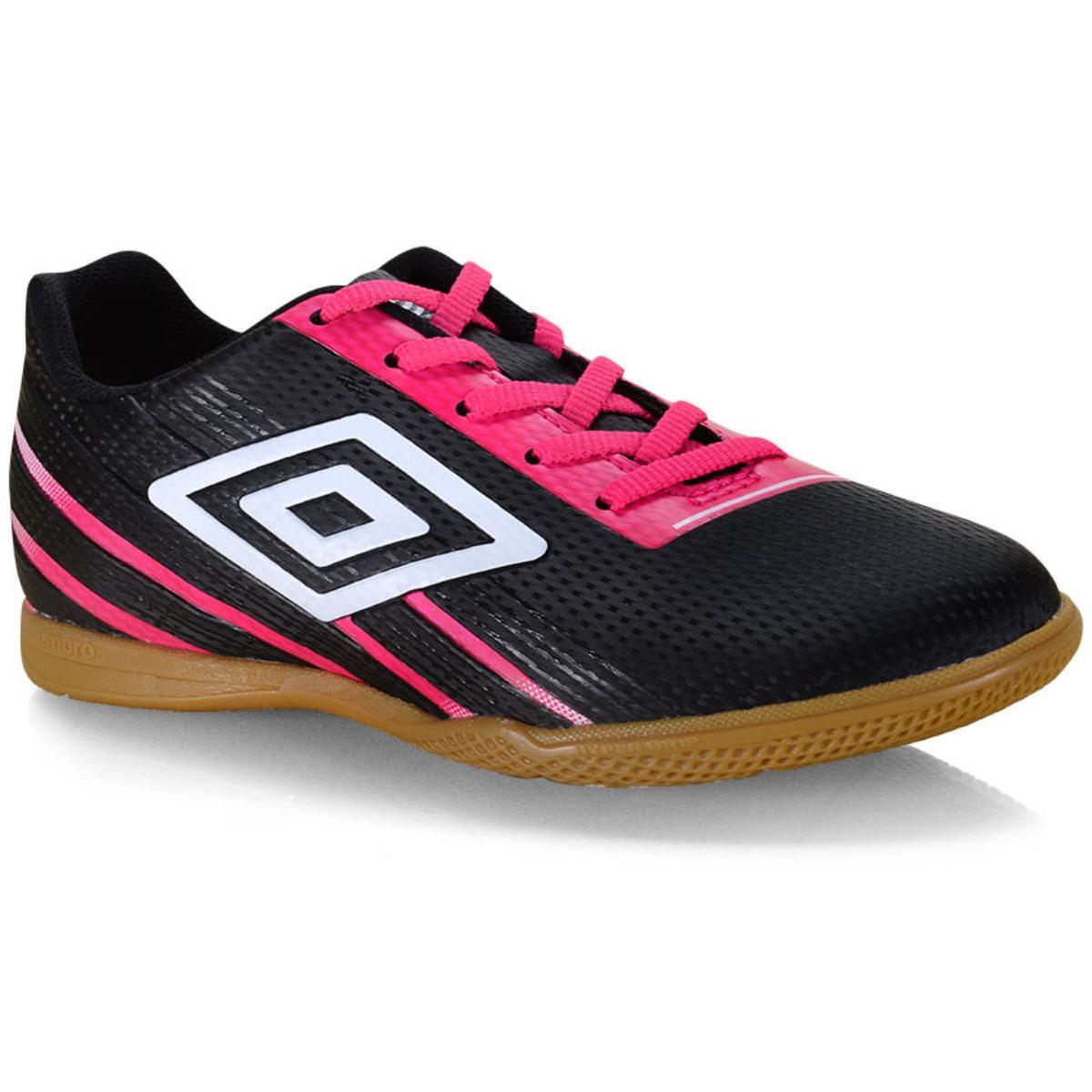Tênis Feminino Umbro Of72135 Preto/rosa/branco