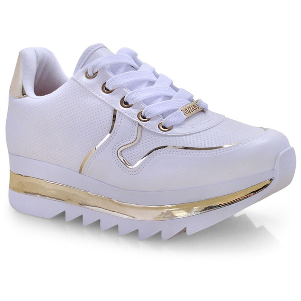 Tênis Feminino Vizzano 1319101 Branco/dourado