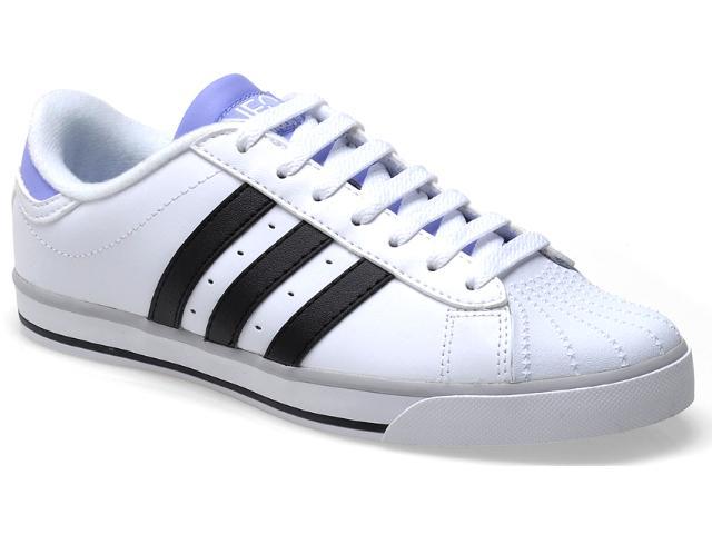 Tênis Feminino Adidas Q26440 Bbneo Classic w Branco/preto/lilas