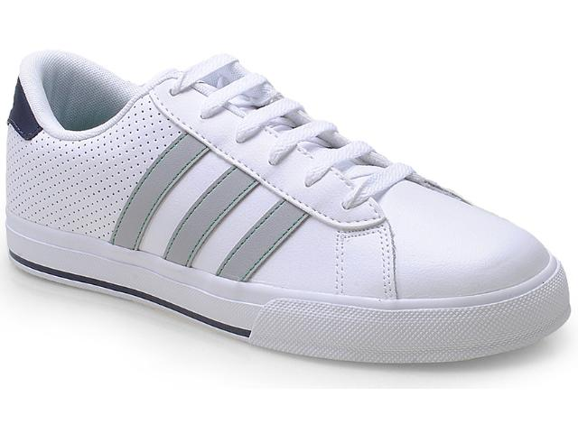 Tênis Masculino Adidas F39045 se Daily Vulc Branco/cinza
