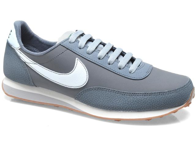 Tênis Masculino Nike 444337-014 Elite Leather si Grafite Branco