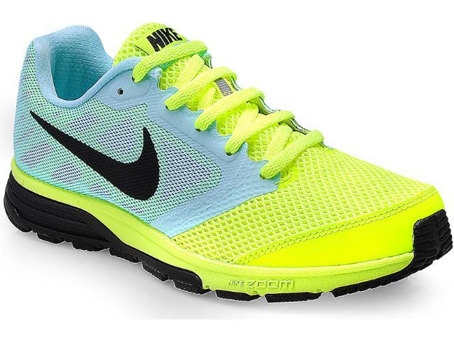 Tênis Masculino Nike 630995-704 Zoom Fly Limão/azul Claro/preto