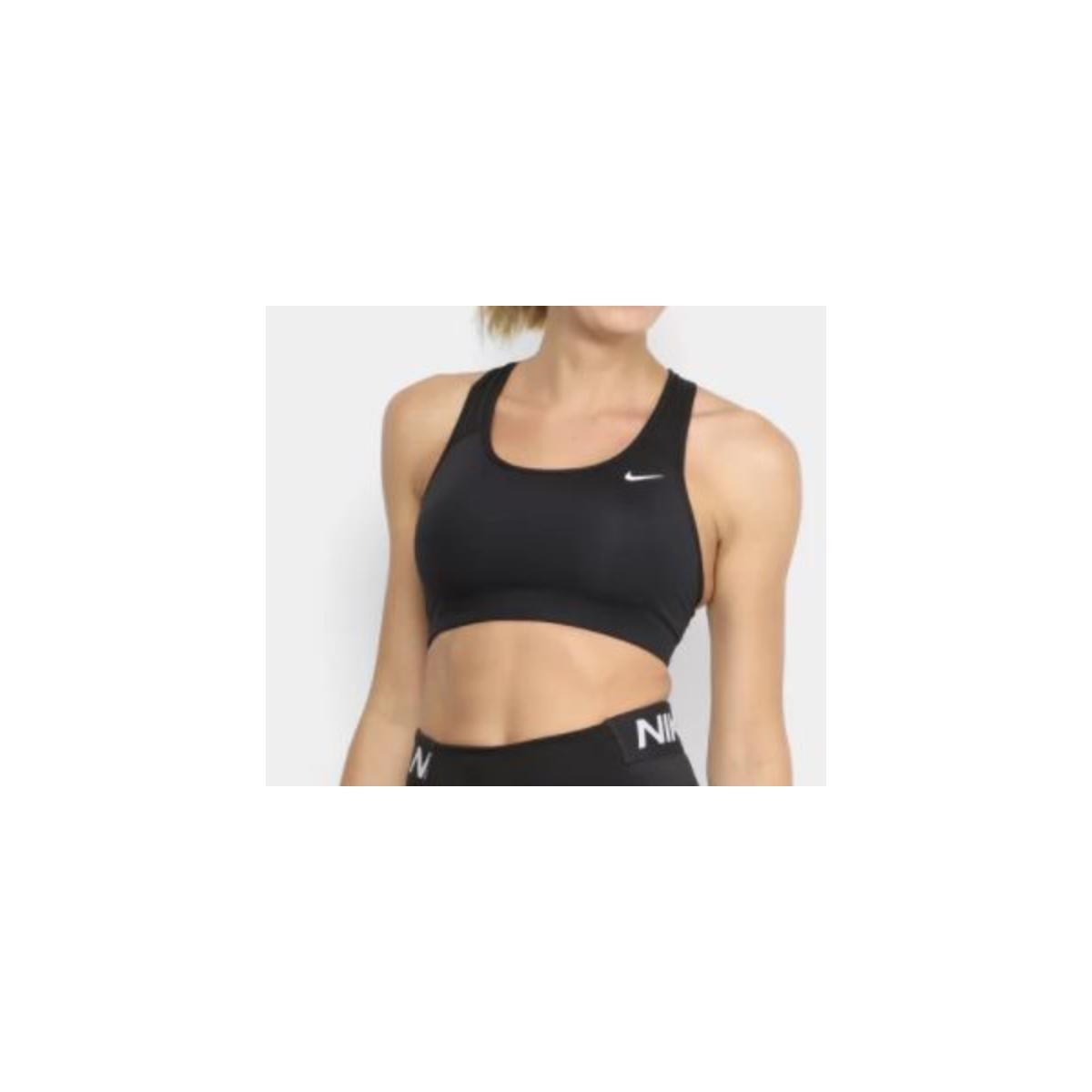 Top Feminino Nike Bv3630-010 Dri-fit Swoosh Preto