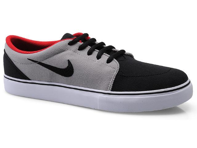 Tênis Masculino Nike 555380-062 Satire Canvas Preto/cinza/vermelho