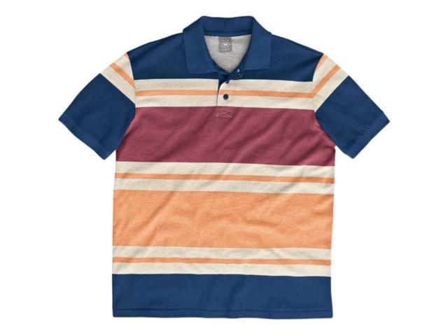Camisa Masculina Hering 03gr 6k00s List Marinho/laranja