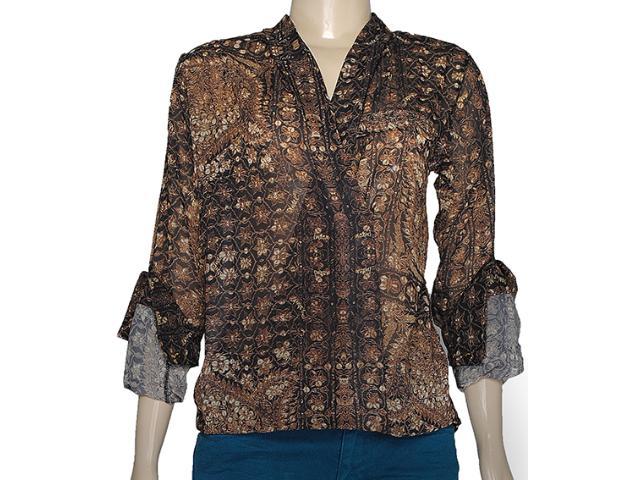 Blusa Feminina Index 07.01.000126 Estampado Marrom