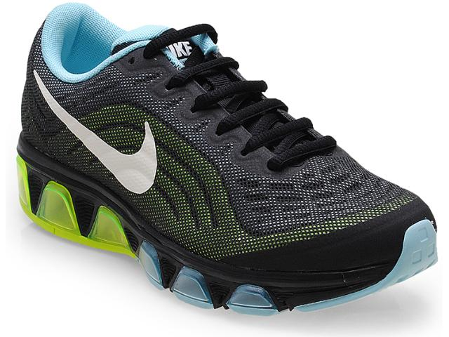 Tênis Feminino Nike 621226-014 Wmns Air Max Tailwin Preto/limão/azul Claro