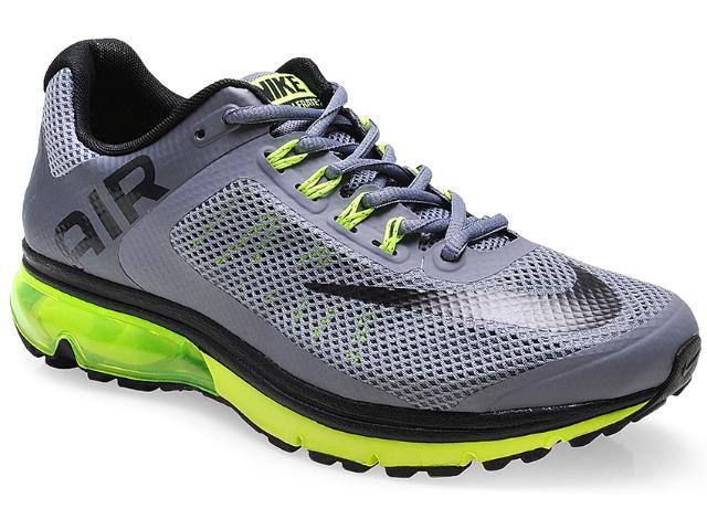 Tênis Masculino Nike 555331-020 Air Max Excellerate+ 2 Cinza/preto/limão