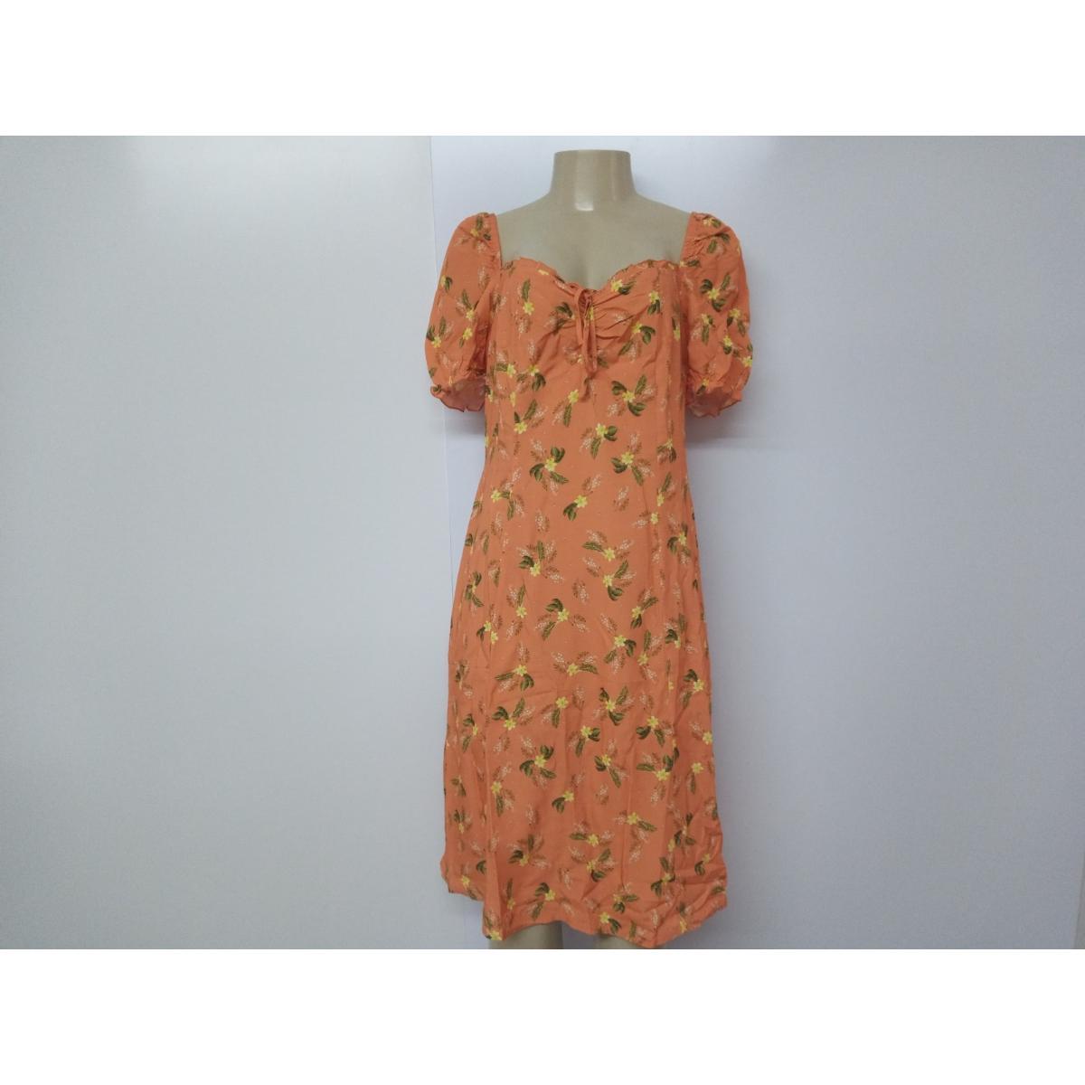 Vestido Feminino Alpelo 51000035 Laranja