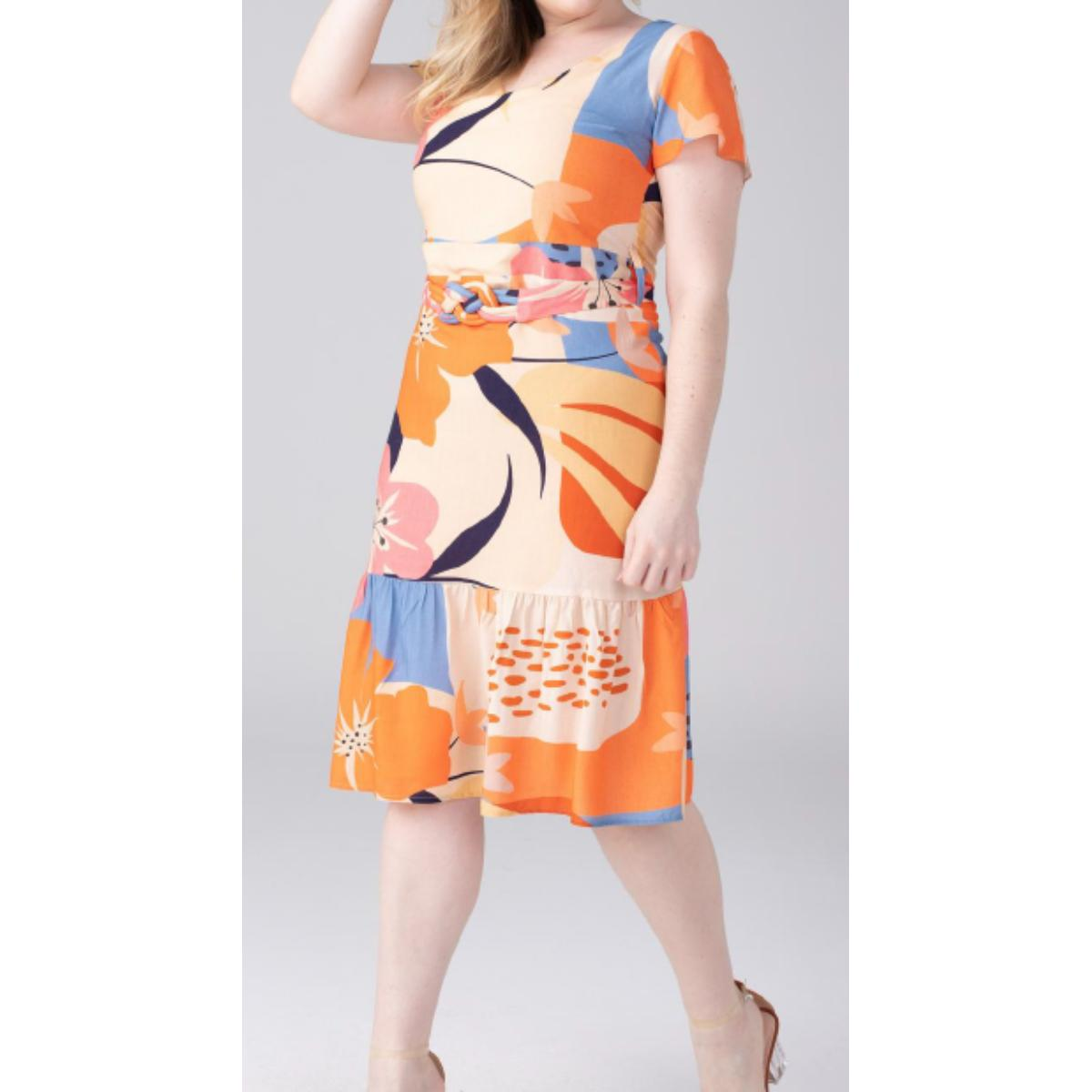 Vestido Feminino Alpelo 50500238 Areia