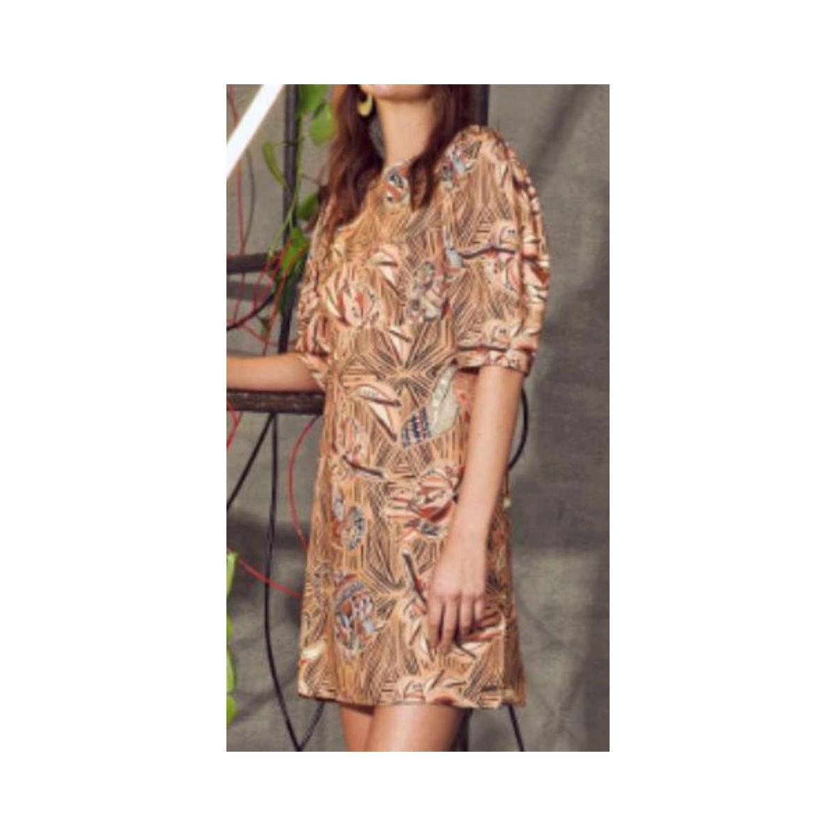 Vestido Feminino Colcci 440110909 Vc303 Bege Estampado