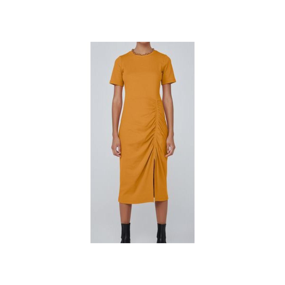 Vestido Feminino Dzarm 6qr2 Ytyen Mostarda