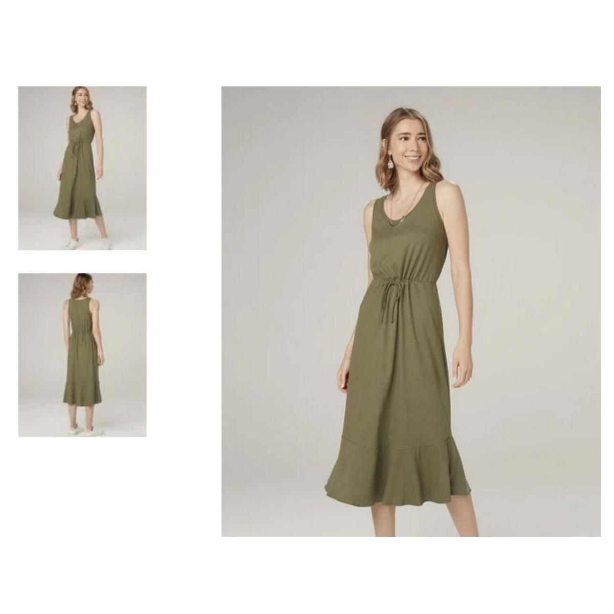 Vestido Feminino Dzarm 6q43 Eacen Verde