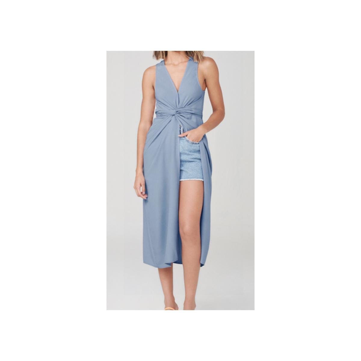 Vestido Feminino Dzarm Zatd Az3en Azul