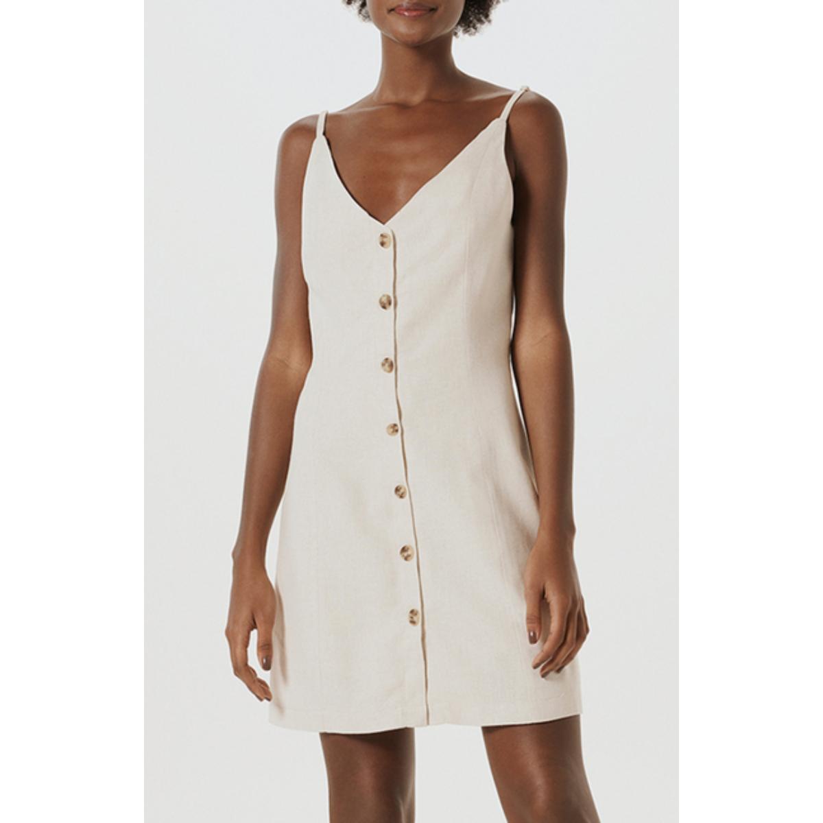 Vestido Feminino Hering K4ed 1dsi Off White