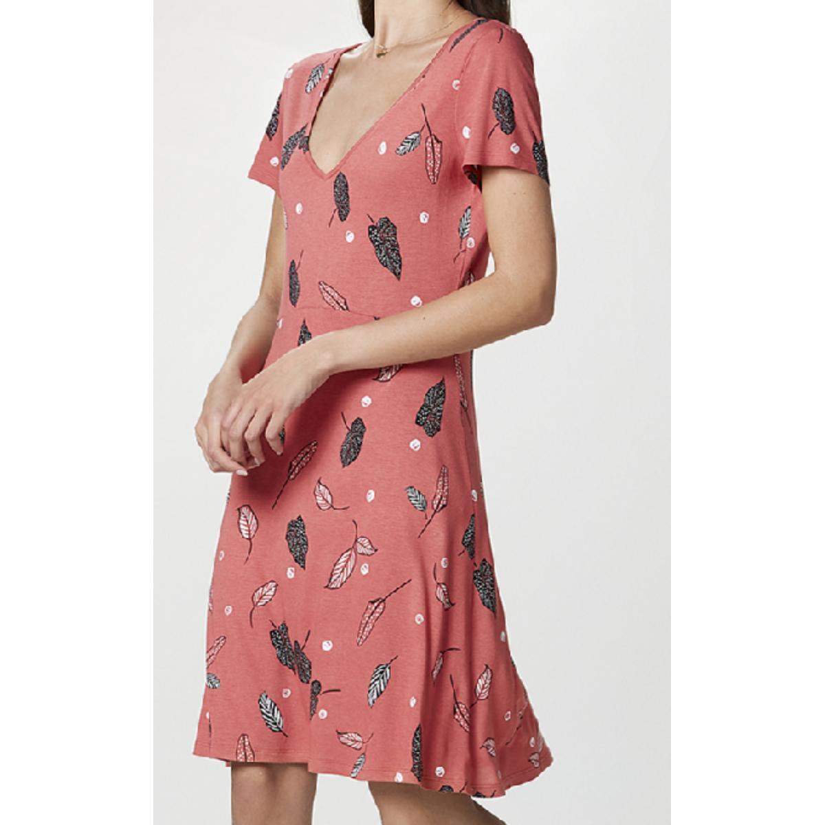 Vestido Feminino Hering 0b0x 2fen  Cereja Estampado