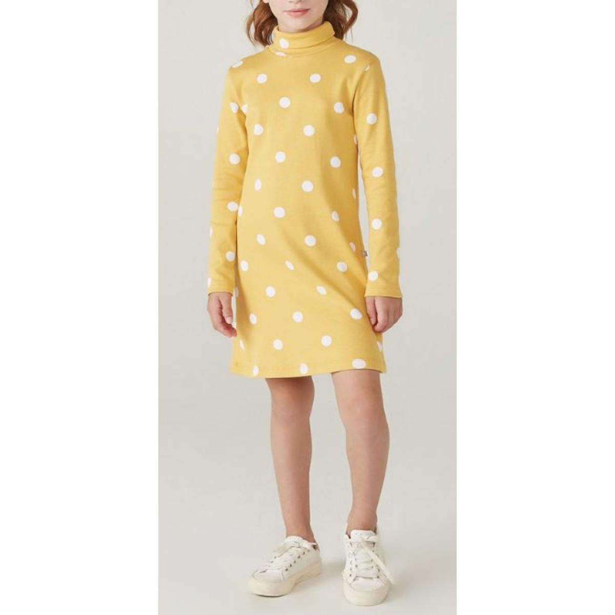 Vestido Feminino Hering Kids 5awt 1ben Amarelo Poa