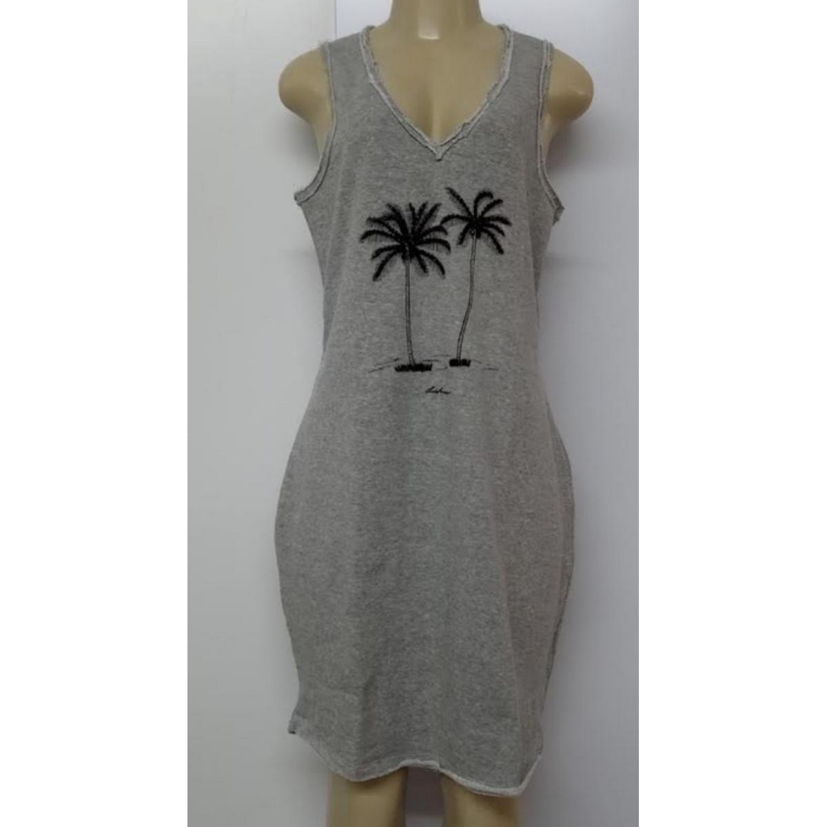 Vestido Feminino Lado Avesso L114601 Cinza