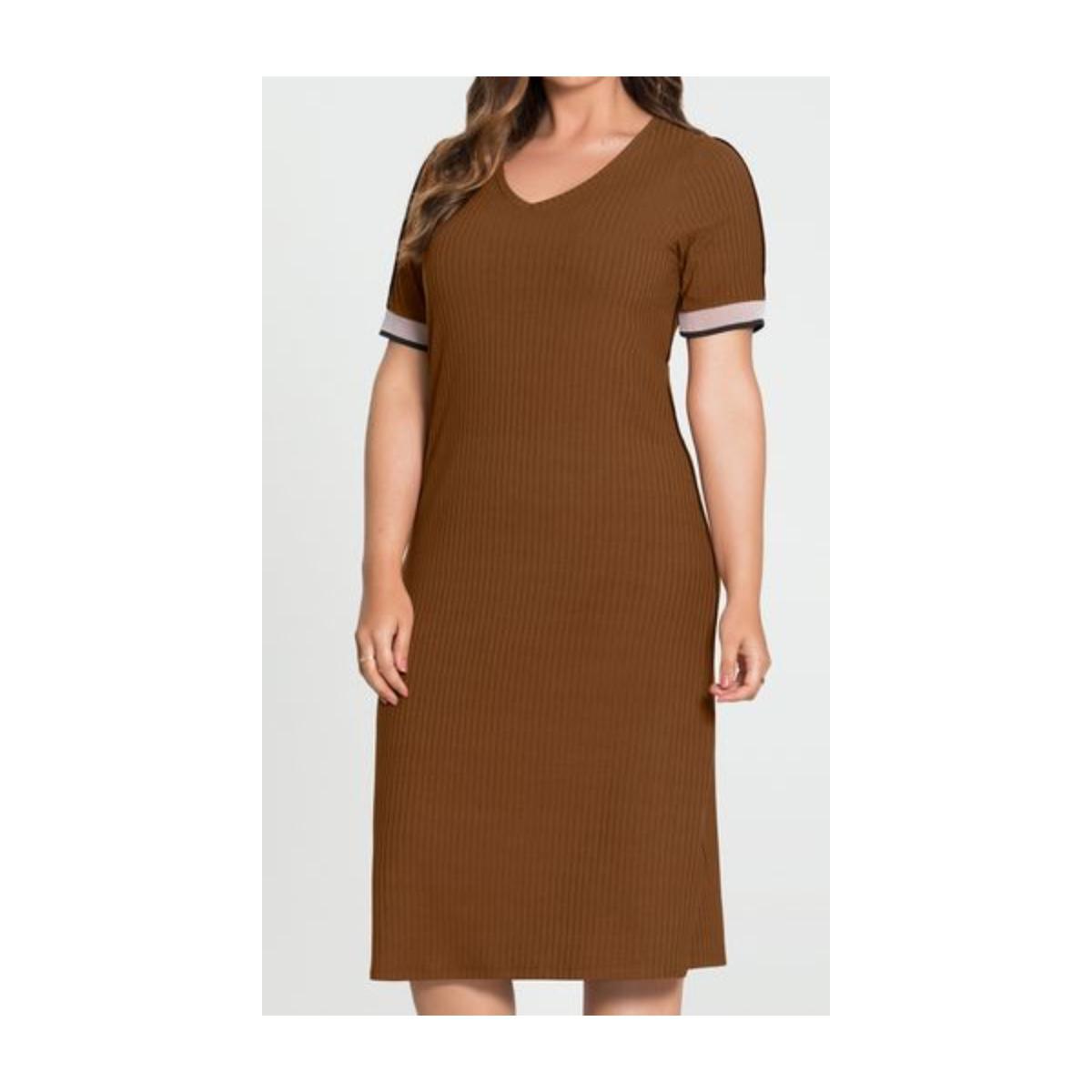 Vestido Feminino Lunender 60185 Marrom