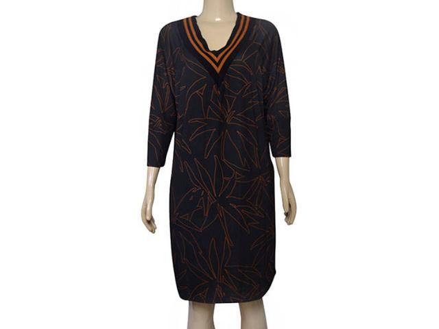 Vestido Feminino Moikana 210028 Preto Floral