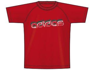 Camiseta Masc Infantil Adidas P14797 Vermelho - Tamanho Médio
