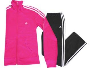 Abrigo Feminino Adidas P90389 Pink/preto - Tamanho Médio