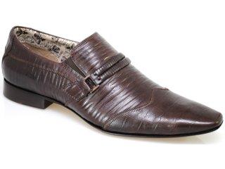 Sapato Masculino Ferracini 5061 Café - Tamanho Médio