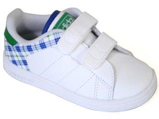 Tênis Masc Infantil Adidas Stan Smith G13271 Branco/azul/verde - Tamanho Médio