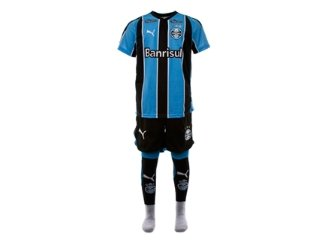 Conjunto Uni Infantil Grêmio K0688i Tricolor - Tamanho Médio