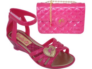 Sandália Fem Infantil Grendene Barbie 20785 Pink - Tamanho Médio
