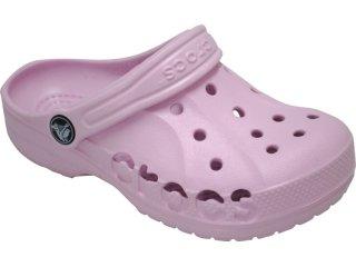 Fem Infantil Crocs Baya Kids Rosa - Tamanho Médio