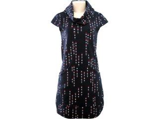 Vestido Feminino Hering 09e0 1a00s Marinho - Tamanho Médio