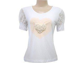 T-shirt Feminino Dona Florinda 37013 Branco - Tamanho Médio