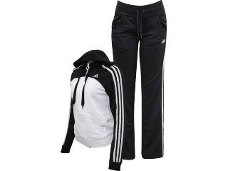 Abrigo Feminino Adidas P90509 Branco/preto - Tamanho Médio