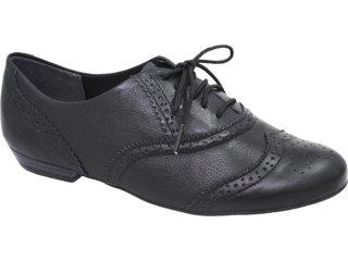 Sapato Feminino Ramarim Oxford 119101 Preto - Tamanho Médio