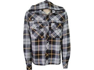 Camisa Masculina Index 07.01.0184 Xadrez Preto - Tamanho Médio
